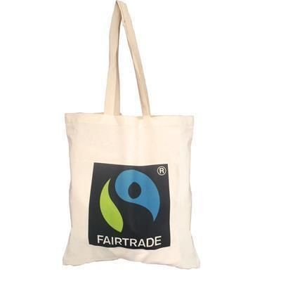 5OZ CERTIFIED FAIRTRADE COTTON SHOPPER TOTE BAG