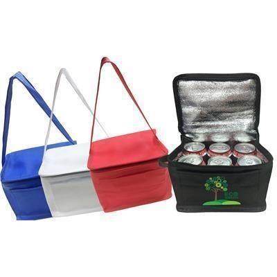 Picture of KNOWSLEY NON WOVEN 6 CAN COOL BAG in Red