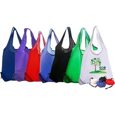 Picture of FOLDING POLYESTER BAG SHOPPER in White