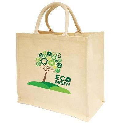 Picture of LARGE NATURAL JUCO SHOPPER TOTE BAG FOR LIFE with Large Gusset