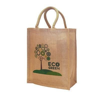 Picture of TATTON SMALL JUTE CONFERENCE BAG with 40cm Web Handles