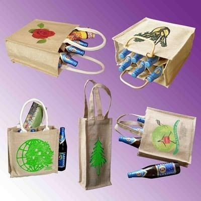 Picture of TATTON JUTE BOTTLE GIFT BAG
