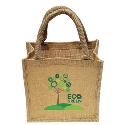 Picture of NATURAL MINI JUTE SHOPPER TOTE BAG