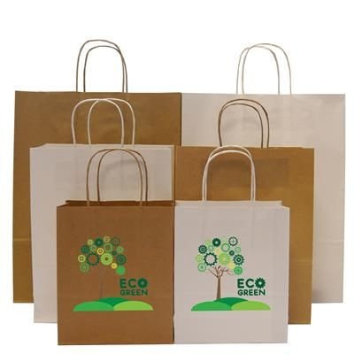 Picture of HARDWICK A5 SMALL KRAFT PAPER BAG with Twisted Handles