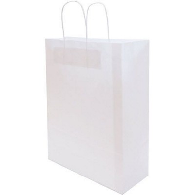 Picture of HARDWICK LARGE WHITE KRAFT PAPER BAG with Twisted Paper Handles