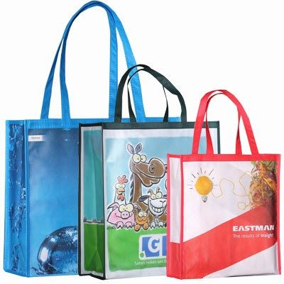 Picture of KNOWSLEY GLOSSY LAMINATED NON WOVEN BIG SHOPPER TOTE BAG FOR LIFE with Nylon Handles