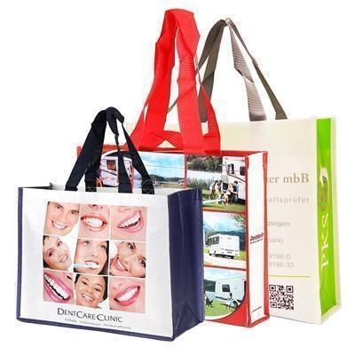 Picture of KNOWSLEY GLOSSYLAMINATED NON WOVEN BIG SHOPPER TOTE BAG FOR LIFE with Nylon Handles