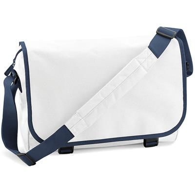 Picture of MARBURY 600D POLYESTER MESSENGER BAG in White