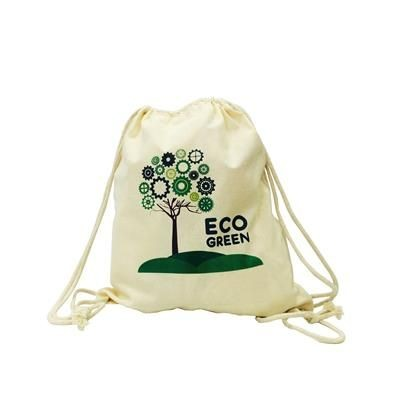 Picture of ARLEY ORGANIC COTTON DOUBLE DRAWSTRING BAG