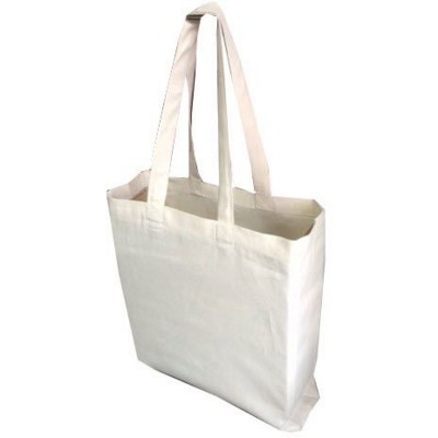 PAXTON 8OZ NATURAL CANVAS SHOPPER TOTE BAG with Long Handles & Gusset