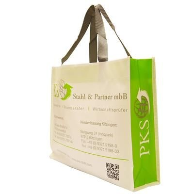 KNOWSLEY GLOSSY LAMINATED NON WOVEN PP BAG FOR LIFE with Nylon Handles
