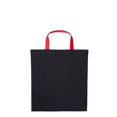 Picture of DUNHAM PREMIER BIODEGRADABLE DYED 5OZ COTTON SHOPPER TOTE BAG FOR LIFE with Short Contrast Handles