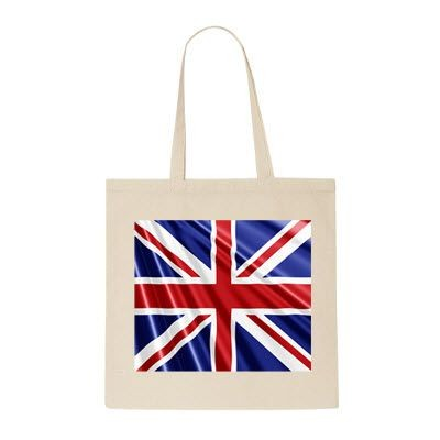 Picture of BRITISH MADE 100% NATURAL COTTON SHOPPER TOTE BAG FOR LIFE
