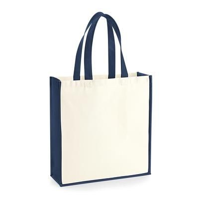 Picture of 12OZ BIODEGRADABLE CANVAS TOTE BAG with Contrast Colour Trim & Handles