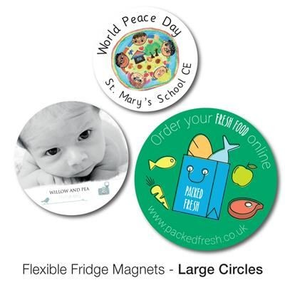 Picture of VARIOUS LARGE CIRCLE SHAPE FLEXIBLE FRIDGE MAGNET