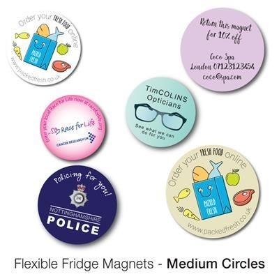 Picture of VARIOUS MEDIUM CIRCLE SHAPE FLEXIBLE FRIDGE MAGNET