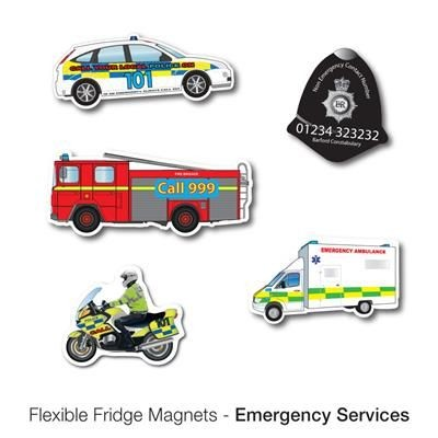 Picture of VARIOUS EMERGENCY VEHICLE SHAPE FLEXIBLE FRIDGE MAGNET