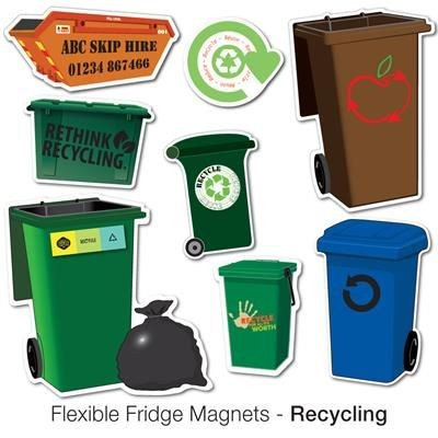 Picture of VARIOUS RECYCLING SHAPE FLEXIBLE FRIDGE MAGNET