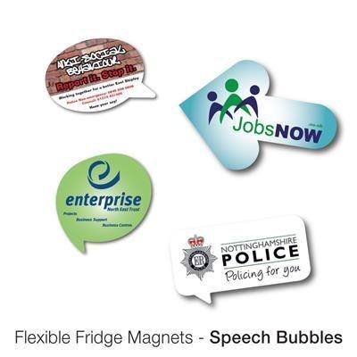 Picture of VARIOUS SPEECH BUBBLE SHAPE FLEXIBLE FRIDGE MAGNET