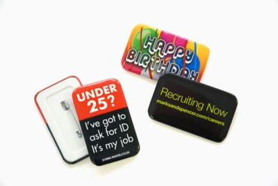 Picture of RECTANGULAR BUTTON BADGE