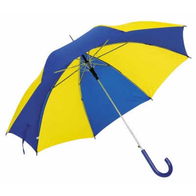 Picture of AUTO STICK UMBRELLA in Blue & Yellow