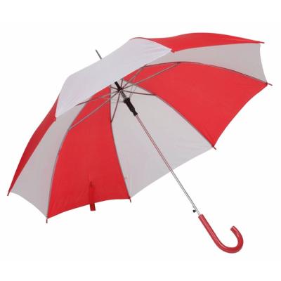 Picture of AUTO STICK UMBRELLA in Red & White