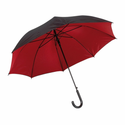 Picture of AUTOMATIC STICK UMBRELLA in Black & Red