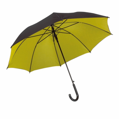 Picture of AUTOMATIC STICK UMBRELLA in Black & Yellow