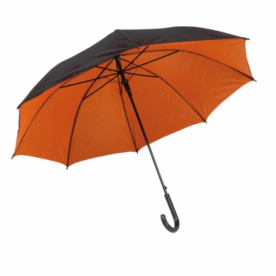 Picture of AUTOMATIC STICK UMBRELLA in Black & Orange