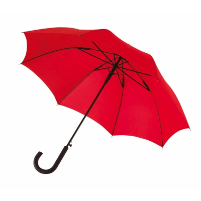 Picture of AUTOMATIC WINDPROOF STICK UMBRELLA in Red