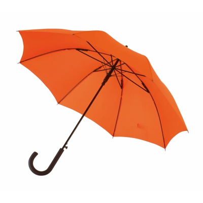 Picture of AUTOMATIC WINDPROOF STICK UMBRELLA in Orange