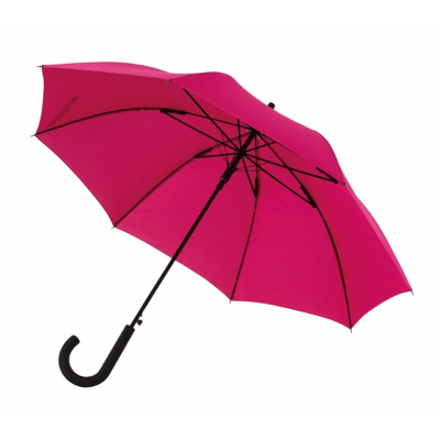 Picture of AUTOMATIC WINDPROOF STICK UMBRELLA in Dark Pink