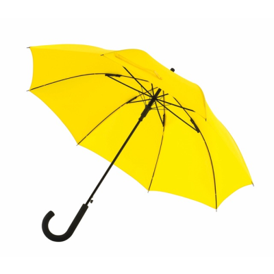 Picture of AUTOMATIC WINDPROOF STICK UMBRELLA in Yellow