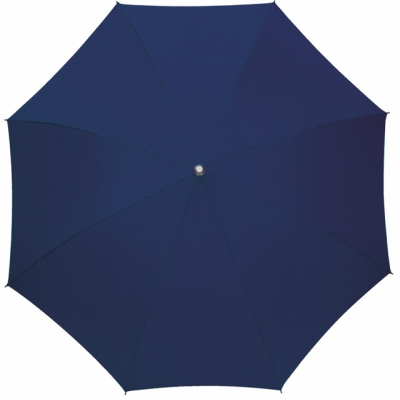 Picture of AUTOMATIC ALUMINIUM METAL SILVER METAL STICK UMBRELLA in Navy Blue