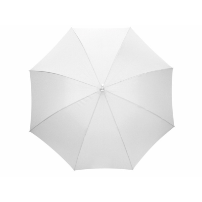 Picture of AUTOMATIC ALUMINIUM METAL SILVER METAL STICK UMBRELLA in White