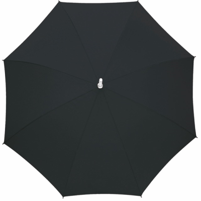 Picture of AUTOMATIC ALUMINIUM METAL SILVER METAL STICK UMBRELLA in Black