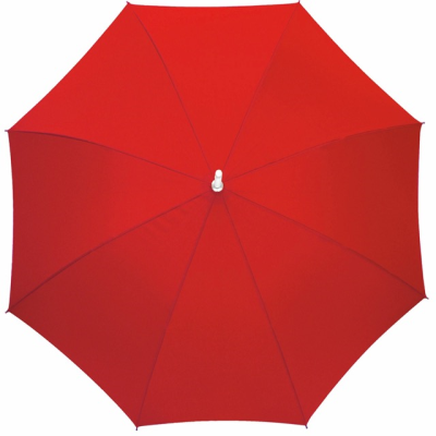Picture of AUTOMATIC ALUMINIUM METAL SILVER METAL STICK UMBRELLA in Red
