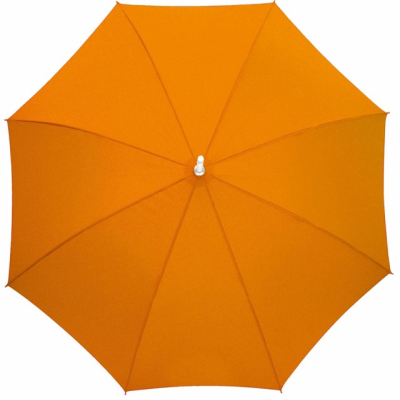 Picture of AUTOMATIC ALUMINIUM METAL SILVER METAL STICK UMBRELLA in Orange