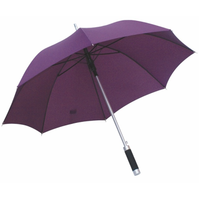 Picture of AUTOMATIC ALUMINIUM METAL SILVER METAL STICK UMBRELLA in Lilac