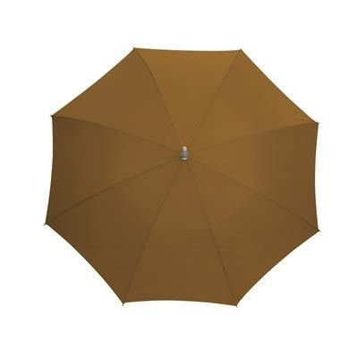 Picture of AUTOMATIC STICK UMBRELLA in Brown with Matching Sleeve in Handle