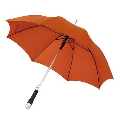 Picture of AUTOMATIC STICK UMBRELLA in Light Brown with Matching Sleeve in Handle