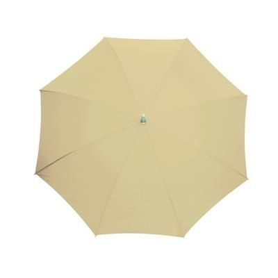 Picture of AUTOMATIC STICK UMBRELLA in Beige with Matching Sleeve in Handle