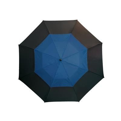 Picture of FIBREGLASS GOLF UMBRELLA in Black & Blue with Fibreglass Shaft