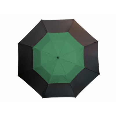 Picture of FIBREGLASS GOLF UMBRELLA in Black & Dark Green with Fibreglass Shaft
