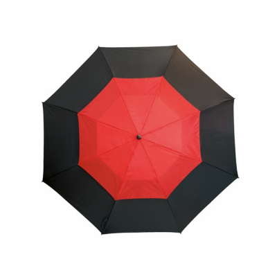 Picture of FIBREGLASS GOLF UMBRELLA in Black & Red with Fibreglass Shaft
