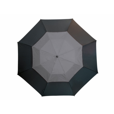 Picture of FIBREGLASS GOLF UMBRELLA in Black & Grey with Fibreglass Shaft