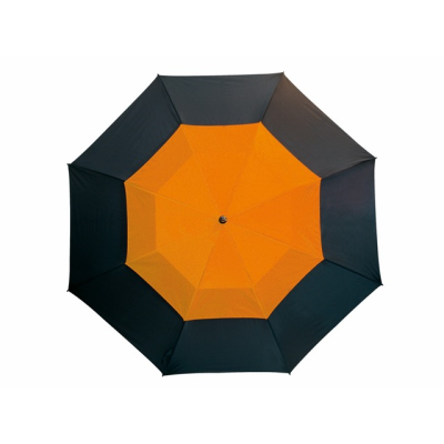 Picture of FIBREGLASS GOLF UMBRELLA in Black & Orange with Fibreglass Shaft