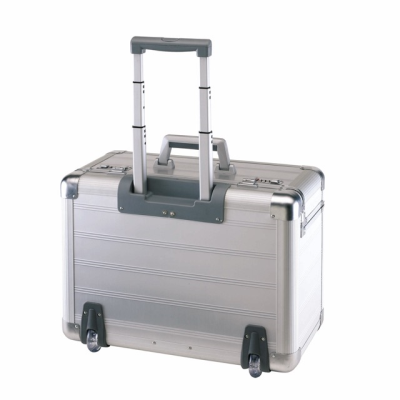 Picture of OFFICE ALUMINIUM METAL SILVER METAL TROLLEY PILOT CASE