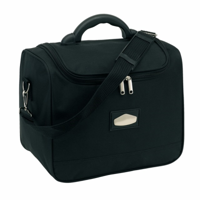 Picture of LASER PLUS COSMETICS BEAUTY BAG in Black