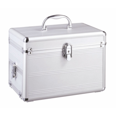 Picture of ALUMINIUM METAL LADIES BEAUTY VANITY TRAVEL CASE